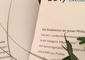 """Männerstimmen beim Landeschorwettbewerb """"hervorragend"""""""